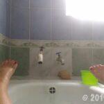 入浴しているところ