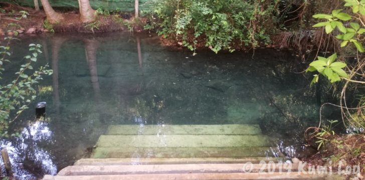 ワット・スワンモック瞑想施設の温泉