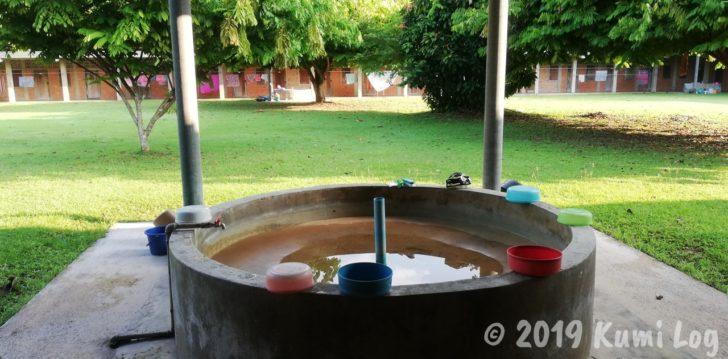 ワット・スワンモック瞑想施設、洗濯をするところ