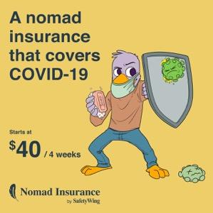 COVID-19にも対応したSafetyWingのNomad Insurance