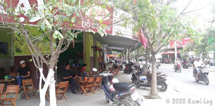 ダナンの街なかカフェ