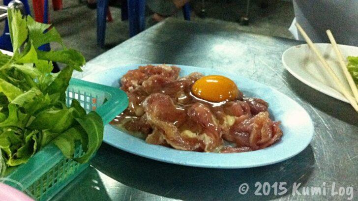 チムチュムのお肉と卵