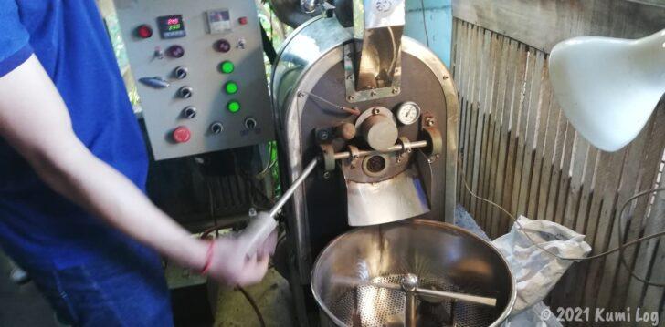 Montagnards Home Farmのコーヒー豆焙煎機