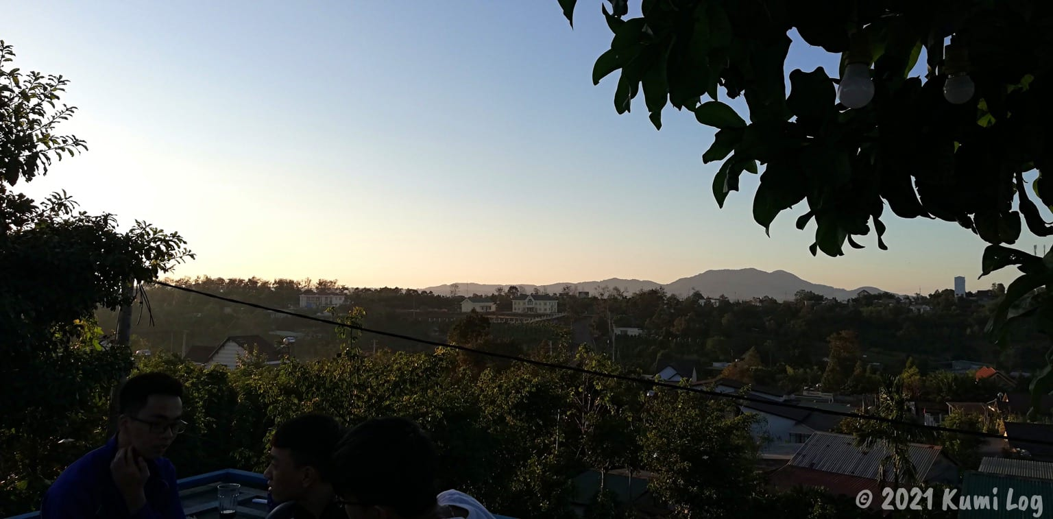 Montagnards Home Farmの屋上からの景色
