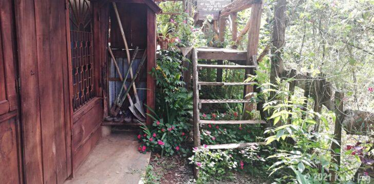 Montagnards Home Farmの裏の階段
